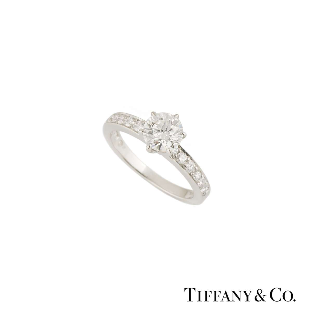 Tiffany & Co. The Tiffany Setting with Diamond Band Ring 0.75ct F/VS1